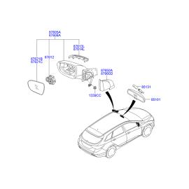 Элемент зеркала правый Hyundai i40 (2012-н.в.)