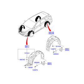 Брызговик передний правый Hyundai i40 (2012-н.в.)