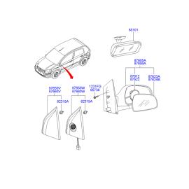 Элемент зеркала правый Hyundai Getz (2002-2011)