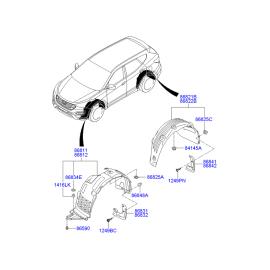 Брызговик задний правый Hyundai Santa Fe 3 (2012-н.в.)