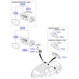 Зеркало левое электрическое Hyundai ix35 (2009-2015)
