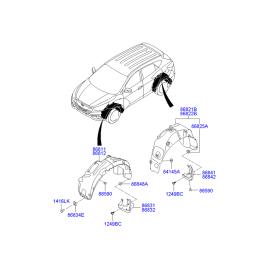 Брызговик передний правый Hyundai ix35 (2009-2015)