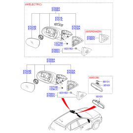 Зеркало левое электрическое Hyundai i30 I (2007-2012)