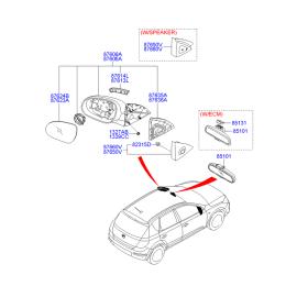Зеркало правое электрическое Hyundai i30 I (2007-2012)