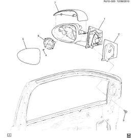 Крышка корпуса зеркала заднего вида правая Chevrolet Aveo T300 (2012-2017)