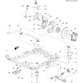 Рычаг передний правый Chevrolet Cruze (2009-2015)
