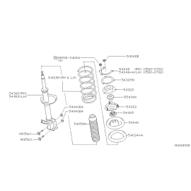 Подшипник опоры амортизатора переднего Nissan Teana J31 (2003-2008)