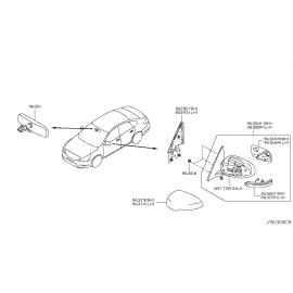 Элемент зеркала правый Nissan Teana J32 (2008-2014)