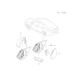 Элемент зеркала левый Opel Insignia (2008-2016)