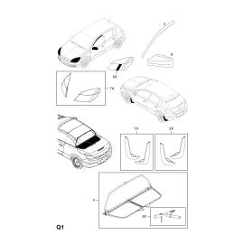 Брызговики передние (к-т) Opel Astra H (2004-2015)