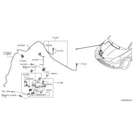 Бачок омывателя Nissan Tiida C11 (2004-2014)