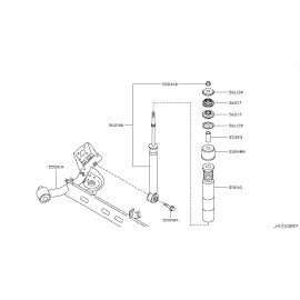 Пыльник-отбойник амортизатора заднего Nissan Tiida C11 (2004-2014)