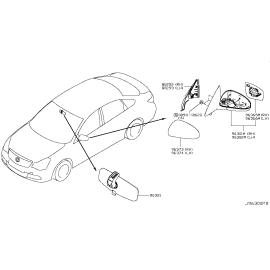 Зеркало левое с электроприводом Nissan Almera G15 (2013-н.в.)