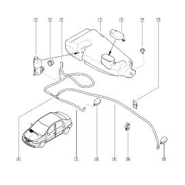 Бачок омывателя Renault Logan 1 (2004-2015)