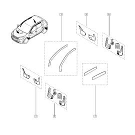 Брызговики передние (к-т) Renault Logan 1 (2004-2015)