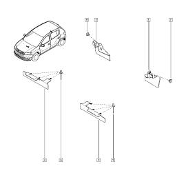 Брызговики задние (к-т) Renault Logan 2 (2014-н.в.)