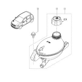 Бачок расширительный Renault Sandero 2 (2014-н.в.)