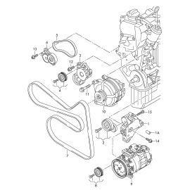 Натяжитель ремня приводного Volkswagen Tiguan 1 (2007-2016)