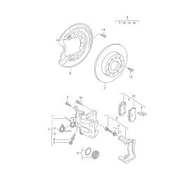 Диск тормозной задний Volkswagen Tiguan 1 (2007-2016)