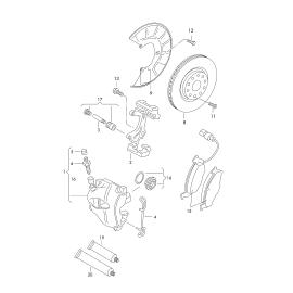 Диск тормозной передний Volkswagen Tiguan 1 (2007-2016)