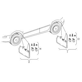 Брызговики задние (к-т) Volkswagen Tiguan 1 (2007-2016)