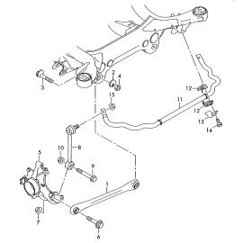 Втулка стабилизатора задняя Volkswagen Touareg 1 (2002-2010)