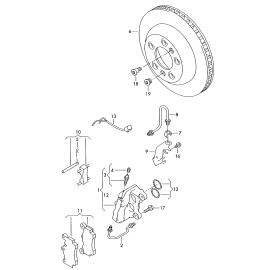 Диск тормозной задний Volkswagen Touareg 1 (2002-2010)