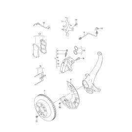 Диск тормозной передний правый Volkswagen Touareg 1 (2002-2010)