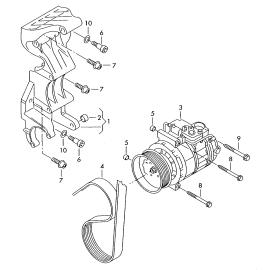 Ремень генератора (приводной) Volkswagen Touareg 2 бензин (2010-н.в.)