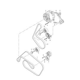 Ремень генератора (приводной) Volkswagen Touareg 2 дизель (2010-н.в.)