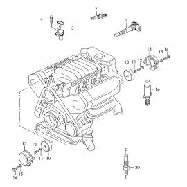 Катушка (модуль) зажигания Volkswagen Touareg 2 (2010-н.в.)
