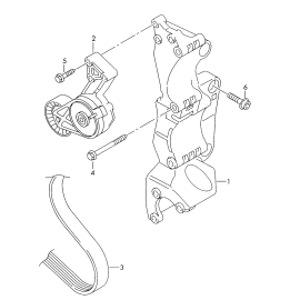 Натяжитель ремня приводного Volkswagen Jetta 5 (2005-2010)