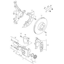 Диск тормозной передний Volkswagen Jetta 5 (2005-2010)