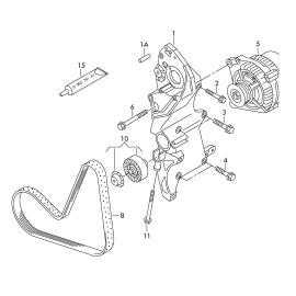Ремень генератора (приводной) Volkswagen Jetta 6 (2010-н.в.)