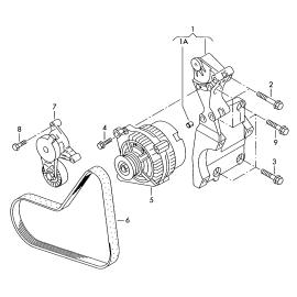 Ремень генератора (приводной) (б/конд) Volkswagen Golf 5 (2003-2009)
