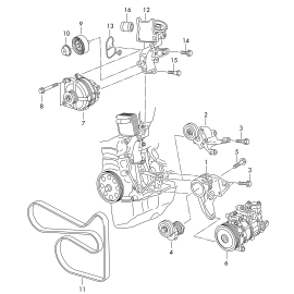 Натяжитель ремня приводного (б/конд) Volkswagen Golf 6 (2009-2012)