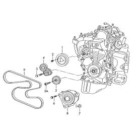 Ремень генератора (приводной) (б/конд) Volkswagen Golf 6 (2009-2012)