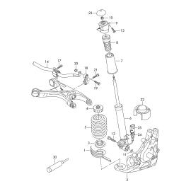 Втулка стабилизатора задняя Volkswagen Passat B6 (2005-2011)