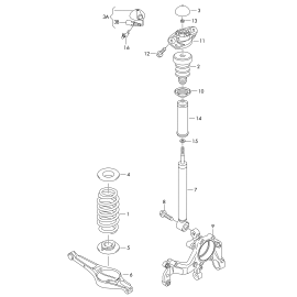 Опора амортизатора заднего Volkswagen Passat B6 (2005-2011)