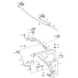 Бачок омывателя Audi A6 C7 (2011-н.в.)