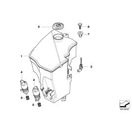 Бачок омывателя без системы омывания фар BMW X3 E83 (2006-2010)