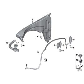 Бачок омывателя с системой омывания фар BMW X3 F25 (2010 - н.в.)