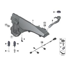 Бачок омывателя с системой омывания фар BMW X5 E70 (2006-2014)