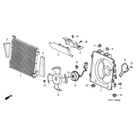Диффузор вентилятора радиатора кондиционера Honda HR-V (1998-2006)