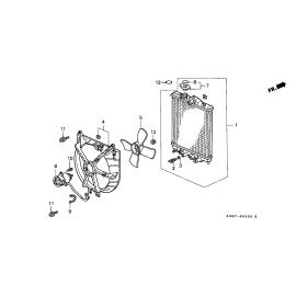 Диффузор вентилятора радиатора охлаждения Honda HR-V (1998-2006)