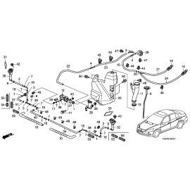 Бачок омывателя Honda Accord 8 (2008-2013)