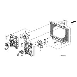 Диффузор вентилятора радиатора правый Honda Accord 8 (2008-2013)