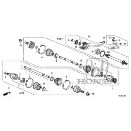 Вал передний промежуточный правый (АТ) (2.4L) Honda CR-V 4 (2012-2016)