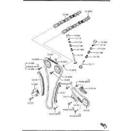 Успокоитель цепи ГРМ Mazda 6 GG (2002-2007)