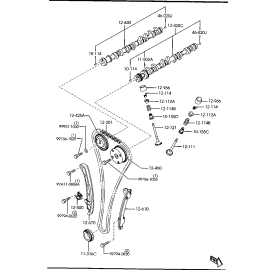Планка натяжителя цепи ГРМ Mazda 3 BK (2003-2009)